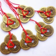 2pcs Chinese Feng Shui Coins For Wealth And Success Lucky Ching Brass Coins