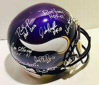Randy Moss Yary Moon Krause Randle Eller+ Auto Signed FS Helmet! Vikings HOF JSA