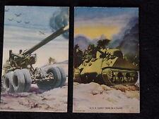 VINTAGE JAPANESE WAR POSTCARD MILITARY ART ARICRAFT USA 155MM GUN GIANT M4 TANK