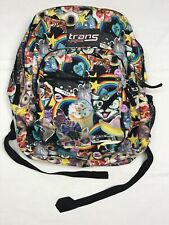 """Trans JanSport Backpack 17"""" 80's Graffiti Cats Cupcakes Rainbow w/ Large Pockets"""