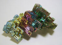 +++ Wismut Kristall // synthetisch +++ bismuth crystal Stufe Sammlung | Nr.2