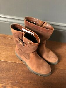 Clarks Goretex brown combi over the ankle slip on boots UK size 5.5