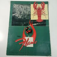 The Flame Phoenix AZ Maine Lobster 1950's Vintage Menu