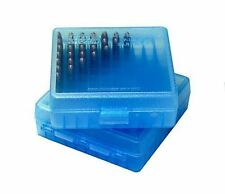 MTM P-100-22-24 ,  22LR and 25ACP Ammo Box - 100 Round - BLUE - 22 LR