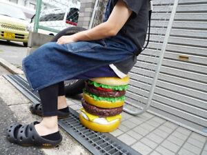 Hamburger Chair Double Burger Chair Burger Shop Object Stool