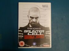 Splinter Cell Double Agent Boxed Nintendo Wii Game - With Manual - TESTED WORKS