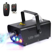 More details for 500w fog smoke machine fogger rgb led party club disco effect wireless control