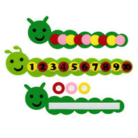 Cute math toys DIY weave cloth early learning education toys MW