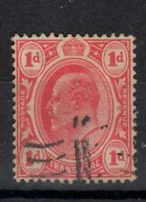 Transvaal Stamps 282a SG 274a 1d Carm Wmk Anchor Signed 1907 SCV