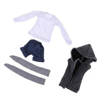 1//4MSD 1//3SD BJD Clothes Casual Outfit Plaid Shirt+Sling Pants for Boy Doll AOD