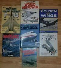 Lot Of 7 Vintage Aircraft, Aviation, Warplanes, Airplanes, Military HC Books VG