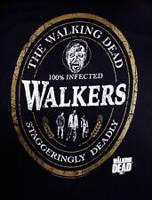The Walking Dead Adult Mens Unisex T-shirt 100% IINFECTED WALKERS NWOT Black MED