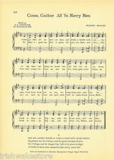 """KAPPA SIGMA Fraternity Song Sheet c1941 """"Come Gather All Ye Merry Men"""" Original"""