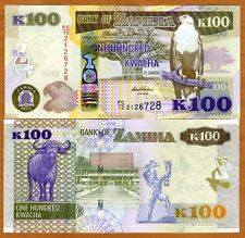 Zambia, 100 Kwacha, 2012 (2013), P-New, UNC > New Revalued Currency