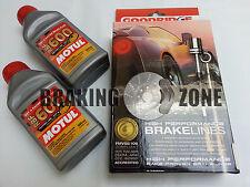 BZ004 Goodridge SS Brake Line Kit w/ Motul RBF600 2008-2013 Subaru WRX STI