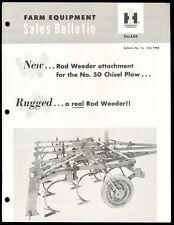 1960 International Harvester Farm Equipment Sales Bulletin - Tillage