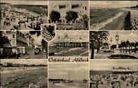 Ahlbeck AK 1963 DDR Ostsee Mehrbildkarte Meer Ufer Strand Gebäude Boote gelaufen