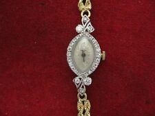 14K and Diamonds Lady Bulova Wristwatch