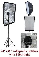 "800w Studio Continuous Fluorescent Light Stand kit w 60x90cm 24""x36"" Softbox"