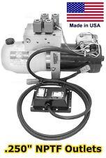 Hydraulic DC Power Unit - 4 & 3 Way Release Valve - Side Mount - Triple Filter