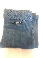 FRANKIE B Women's  Slim FLARED/boot Cut Medium Blue Jeans Size 6x34