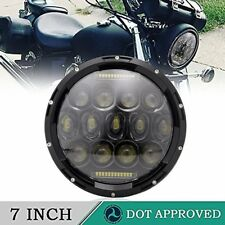 7 inch Round Black led headlight Round for Jeep JK LJ CJ TJ Dodge Land Rover H1