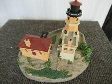 Cold-Cast Porcelain Split Rock Lighthouse Sculpture by Danbury Mint 1993