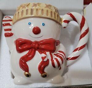 2020 Mr. Bingle Fitz & Floyd Snowman Ceramic Mug New Orleans Christmas Icon NIB