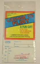 Vintage Novelty License To Flirt joke april fool party birthday gift