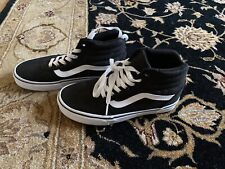 Vans Off The Wall Old Skool SK8 High Top Shoes Women's Size 6.5 Black White