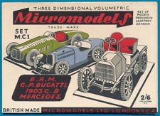 Micromodels Original old set M.C.1  B.R.M. Bugatti, Mercedes
