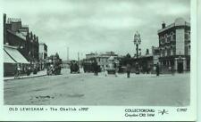 Pamlin repro photo postcard C1907 OLD LEWISHAM The Obelisk 1907 Horse Bus