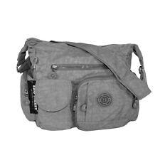 Handtasche Umhängetasche Schultertasche Bag Street Nylon grau 2219 leicht