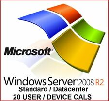 Windows Server 2008 R2 DATACENTER + RDS 20 USER/DEVICE CALS (2 Licenses PACK)