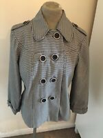 Marks & Spencer dog tooth check double breasted boxy jacket - Size 12