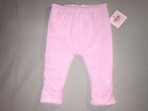 NEW JUICY COUTURE BABY 0-3 MO REVERSIBLE WHITE PINK PANTS STRIPES SO CUTE! SOFT