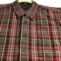 Nautica Mens Short Sleeve Button Up Shirt XXL 2XL Multicolor Plaid Pocket Casual