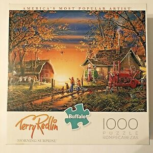 Buffalo Games Jigsaw Puzzle Morning Surprise Terry Redlin 1000 Pieces Complete