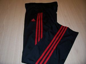 ADIDAS BLACK W/RED STRIPES ATHLETIC PANTS BOYS LARGE 14-16 EXCELLENT CONDITION