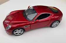 Alfa Romeo 8C Competizione Coupe Red 1:24 Scale Diecast Model By Welly - Perfect