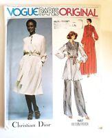 Vogue Paris Original Pattern Christian Dior 1567 Dress Tunic Pants UNCUT Sz. 16