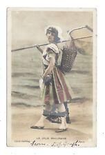 Vintage RP postcard La Jolie Boulonaise, pretty Bolognese girl. pmk TIPTON 1905