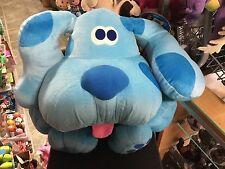 """RARE HTF XL LARGE FISHER PRICE BLUES CLUES POSE A BLUE SOFT TOY 20"""" x 24"""" 1998"""