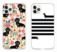 Dachshund dog cute cartoon soft case cover for phone models iPhone 11 Pro Huawei