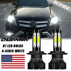LED Headlight HID Hi/Low Beam  Bulbs H7 6000K for Mercedes-Benz GLK350 2010-2015