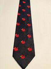 🦆 Designer MOSCHINO Men's Silk Ducks Tie