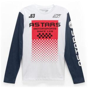 Alpinestars Astars Tachen Casual Long Sleeve Tee - White & Navy