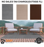 6 x 8 ft Large Ribbed Indoor Outdoor Use Area Rug Carpet Patio Deck Loomed Taupe