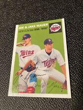 2003 Topps Heritage Joe & Jake Mauer Rookie near mint TWINS
