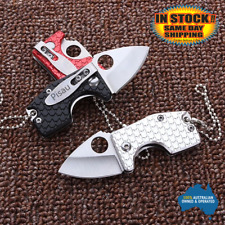 Small keyring Key Knife Folding Opening Pocket Hunting EDC Survival Fishing Tool
